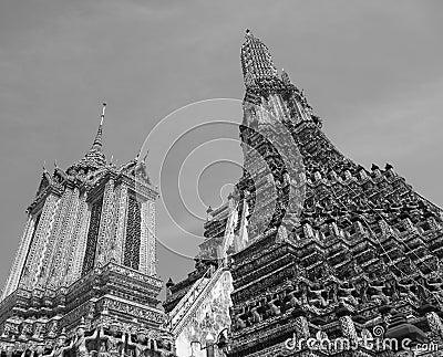 Wat Arun Temple top (Bangkok, Thailand, Asia)