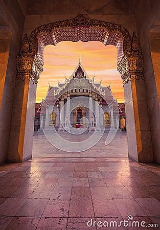 Free Wat Benchamabophit, Marble Temple, Bangkok, Thailand Stock Image - 85553701