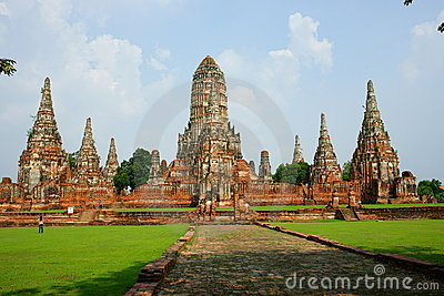 Wat Chai Wattanaram, Ayutthaya, Thailand. Editorial Photo