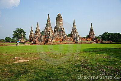 Wat Chai Wattanaram, Ayutthaya, Thailand. Editorial Image