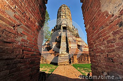 Wat chaiwattanaram in old Siam Kingdom capi