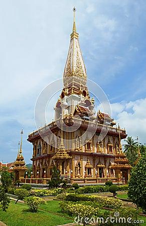 Wat Chalong Pagoda in Phuket Thailand