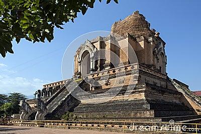 Chiang Mai - Wat Cheddi Luang - Thailand.