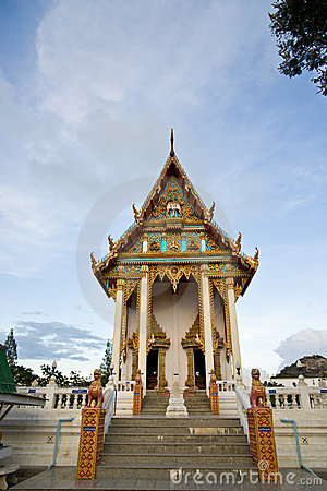 Wat Khao Lan Thom Temple Editorial Stock Image