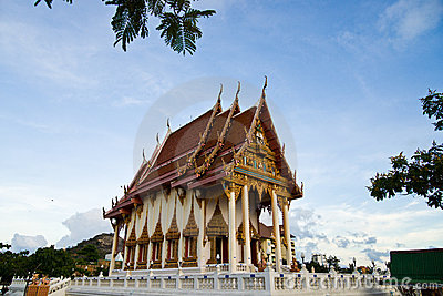 Wat Khao Lan Thom Temple Editorial Photography