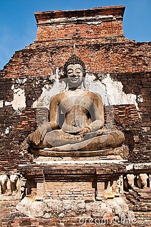 Wat mahatat sukhothai history park in thailand