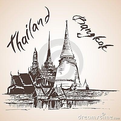 Free Wat Phra Kaew - Bagkok, Thailand. Royalty Free Stock Image - 75518256