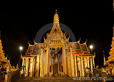 Wat Phra Kaew In Bangkok At Night Stock Photos - Image ...