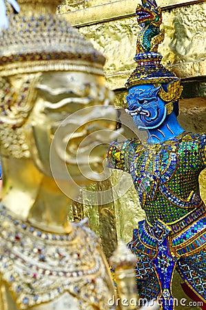 Wat Phra Kaew detaljer