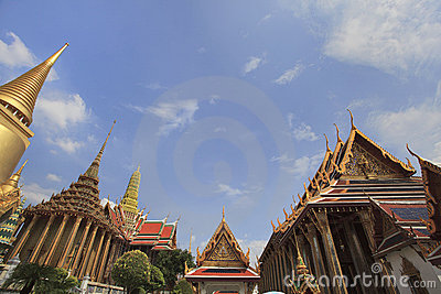 Wat Phra Kaew Thai Authentic Architecture