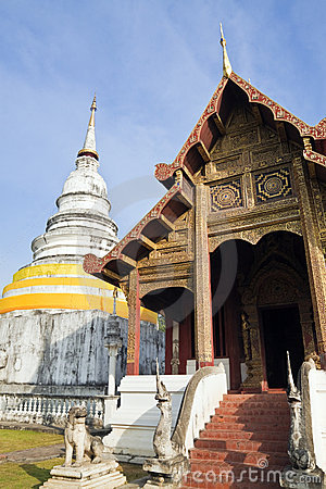 Chang Mai, Thailand Wat Phra Singh Temple Editorial Photography