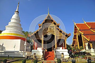 Wat Phra Singha, Thai lanna temple at Chiangmai province Thailan
