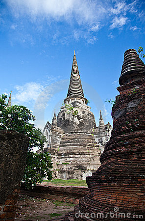 Free Wat Phra Sri Sanphet Of  Ayutthaya5 Royalty Free Stock Photo - 20658455