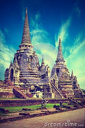 Free Wat Phra Sri Sanphet Temple. Ayutthaya, Thailand Royalty Free Stock Images - 39102929