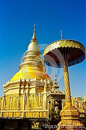 Wat Phrathat Hariphunchai Temple