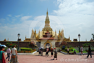 Wat Pra That Luang, Lao Editorial Stock Image