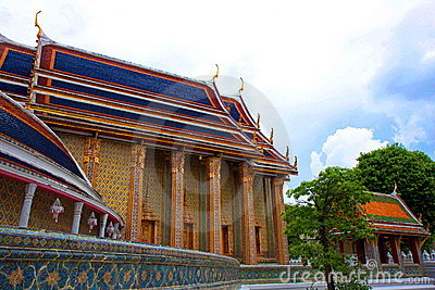 Wat Rajabopit.The temple in the Bangkok