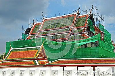 Wat Ratchanatdaram Worawihan underconstruction, Bangkok, Thailan