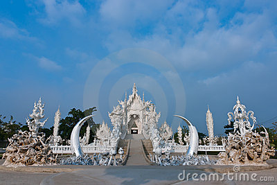 Wat Rong Khun in Chiang Rai of Thailand, Asia