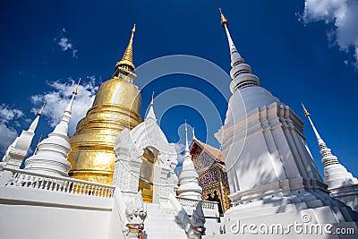 去泰国免筺(Y_wat suan dok寺庙在清迈,泰国 免版税图库摄影 - 图片