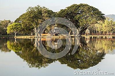 Wat Traphang Ngoen In Sukhothai Stock Photo - Image: 55405431