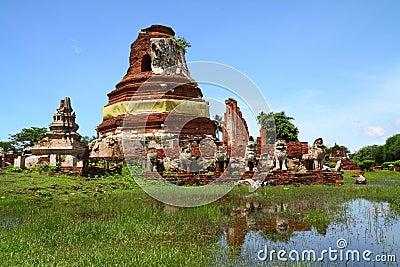 Wat Tummickarat in Ayutthaya Historic Park