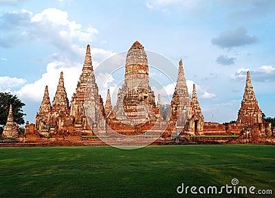 Wat Yai Chai Mong Kol in Ayuthaya Thailand