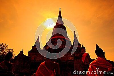 Wat Yai Chai Mongkhon in Thailand