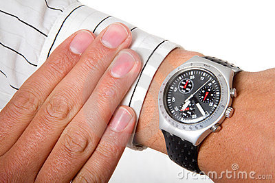 Watch on arm