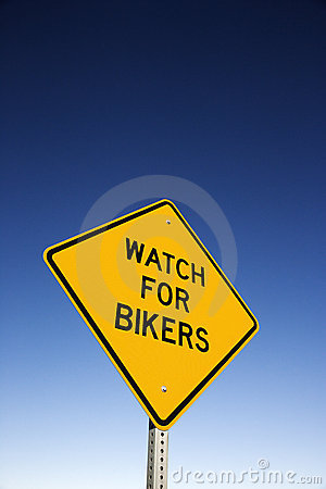 Watch for Bikers  Road Warning Sign