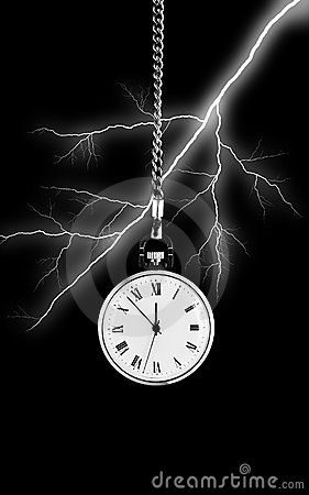 Watch on bolt of lightning background