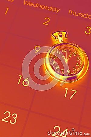 Watch on calendar