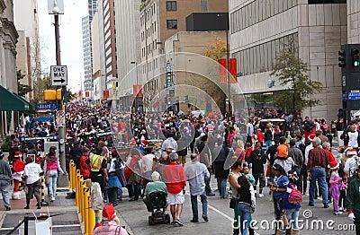 Watch Christmas parade Editorial Stock Photo