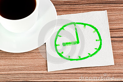 Watch on a napkin