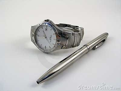 Watch near a ballpen