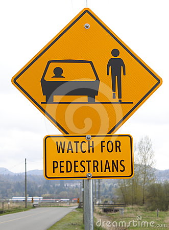 Watch for Pedestrians Signage