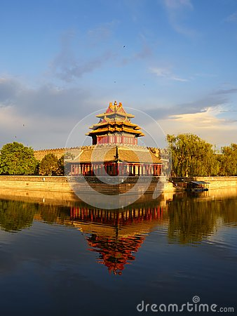 Free Watch Tower Of Forbidden City, Beijing China Royalty Free Stock Photos - 103367568