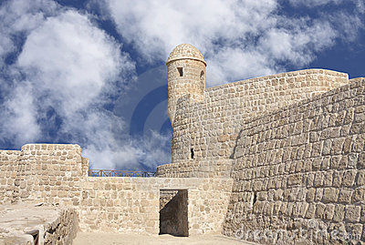Watch tower in Portuguese Fort in Bahrain