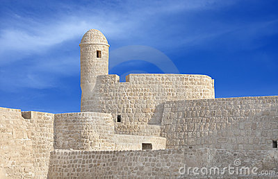 Watch tower at the south corner of Bahrain fort