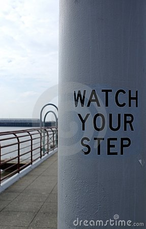 Watch your step on the pier