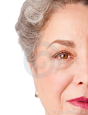 Watchful senior eye of experience