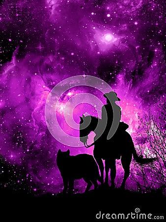 Free Watching At The Amazing Universe Stock Image - 111468211