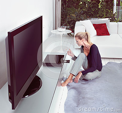 Watching home cinema