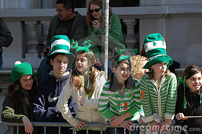 Watching New York s St. Patrick s Day Parade Editorial Stock Photo