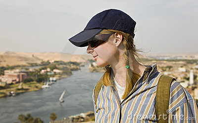 Watching the Nile river.