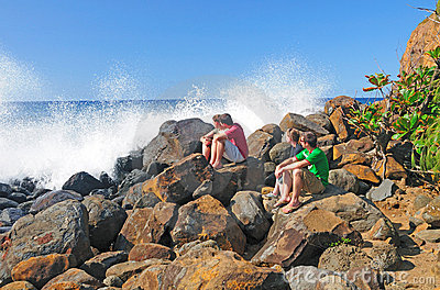 Watching the Ocean Spray