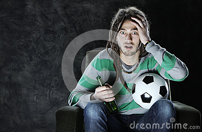 Watching soccer on tv