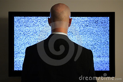 Watching television