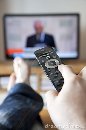 Free Watching Tv Royalty Free Stock Photo - 14202915