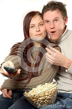Free Watching Tv Royalty Free Stock Image - 563096